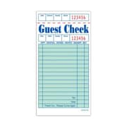 JRMI GC3616-1BK, Green Single-Part Guest Checks - Book of 100
