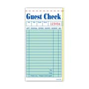 JRMI GC6000-2BK, Green Carbon Interleaved Guest Checks - Book of 50