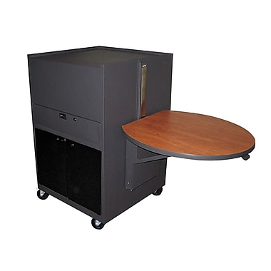Marvel® Vizion® Dark Neutral Media Center Cart With Acrylic Doors