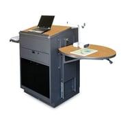 Marvel® Vizion® Stationary Media Center Cart With Lectern and Acrylic Door; Oak