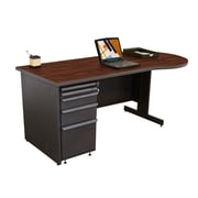 "Marvel® Zapf® 72"" x 30"" Laminate Teachers Conference Desk; Figured Mahogany"