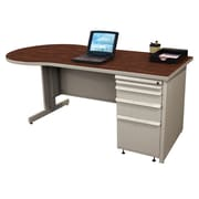 Marvel® Zapf® Featherstone 72 x 30 Laminate Teachers Conference Desk; Figured Mahogany
