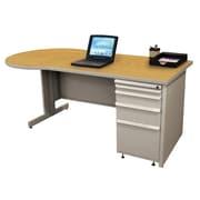 "Marvel® Zapf® Featherstone 72"" x 30"" Laminate Teachers Conference Desk; Solar Oak"
