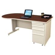 Marvel® Zapf® 72 x 30 Laminate Teachers Conference Desk; Figured Mahogany