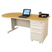 "Marvel® Zapf® 72"" x 30"" Laminate Teachers Conference Desk; Solar Oak"