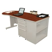 Marvel® Zapf® Featherstone 75 x 30 Laminate Teachers Conference Desk W/Bookcase; Collectors Cherry