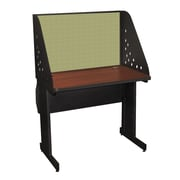 "Marvel® Pronto® Dark Neutral 36"" x 30"" Laminate Training Table W/Carrel & Lockable Raceway, Peridot"