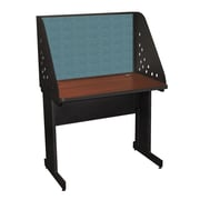 "Marvel® Pronto® Dark Neutral 36"" x 30"" Laminate Training Table W/Carrel & Modesty Panel, Slate"
