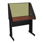 Marvel® Pronto® Dark Neutral 36 x 30 Laminate Training Table W/Carrel & Modesty Panel, Peridot