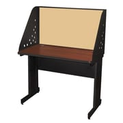 Marvel® Pronto® Dark Neutral 42 x 24 Laminate Training Table W/Carrel & Modesty Panel, Beryl