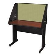 "Marvel® Pronto® Dark Neutral 42"" x 24"" Laminate Training Table W/Carrel & Modesty Panel, Peridot"