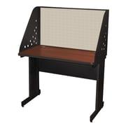 "Marvel® Pronto® Dark Neutral 42"" x 24"" Laminate Training Table W/Carrel & Modesty Panel, Chalk"