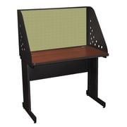 Marvel® Pronto® Dark Neutral 42 x 30 Laminate Training Table W/Carrel & Modesty Panel, Peridot