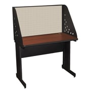 Marvel® Pronto® Dark Neutral 42 x 30 Laminate Training Table W/Carrel & Modesty Panel, Chalk