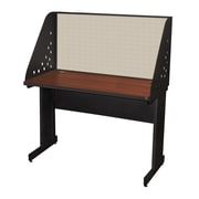"Marvel® Pronto® Dark Neutral 48"" x 24"" Laminate Training Table W/Carrel & Modesty Panel, Chalk"