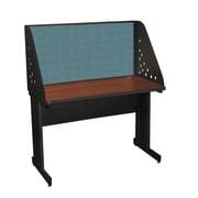 "Marvel® Pronto® Dark Neutral 48"" x 30"" Laminate Training Table W/Carrel & Modesty Panel, Slate"