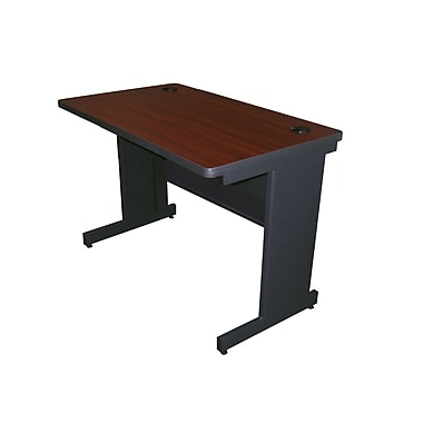 Marvel® Pronto® Dark Neutral  42in. x 24in. Laminate School Training Table W/Modesty Panel Back, Mahogany