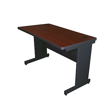 Marvel® Pronto® Dark Neutral  48in. x 24in. Laminate School Training Table W/Modesty Panel Back, Mahogany