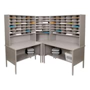 Marvel® Mailroom 70 -  78 x 90 x 90 84 Slot Corner Literature Organizer, Gray