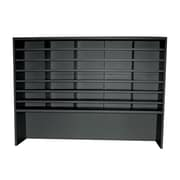 "Marvel® Mailroom 42"" x 60"" x 14"" 35 Compartment Utility Sorter With Riser, Black"