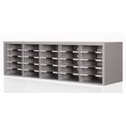 "Marvel® Mailroom 16"" x 60"" x 14"" 25 Compartment Utility Sorter With Shelves, Gray"