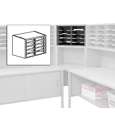 Marvel® Mailroom 16in. x 24in. x 14in. 10 Pockets Utility Sorter with Shelves, Gray