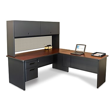 Marvel® Pronto® 72in. x 78in. Laminate Desk W/Return; Chalk