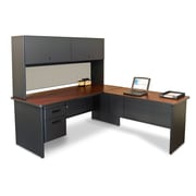 "Marvel® Pronto® 72"" x 78"" Laminate Desk W/Return; Chalk"