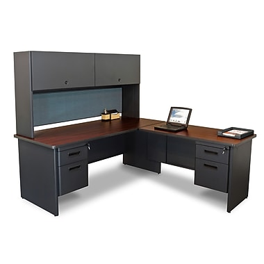 Marvel® Pronto® 72in. x 78in. Laminate Desk W/Return & Pedestal; Slate