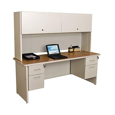 Marvel® Pronto® 72in. x 24in. Laminate Double Pedestal Credenza Desk W/Flipper Door; Chalk