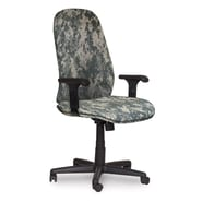 Marvel® Allegra® Fabric High-Back Executive Chair W/Adjustable Arms & Knee Tilt, ACU Digital Camo