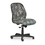 Marvel® Allegra® Fabric Mid-Back Armless Management Chair W/Knee Tilt, ACU Digital Camo