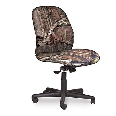 Marvel® Allegra® Fabric Mid-Back Armless Management Chair W/Knee Tilt, Mossy Oak®