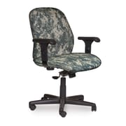 Marvel® Allegra® Fabric Mid-Back Management Chair W/Adjustable Arms & Knee Tilt, ACU Digital Camo