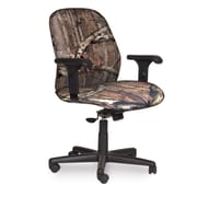 Marvel® Allegra® Fabric Mid-Back Management Chair W/Adjustable Arms & Knee Tilt, Mossy Oak®