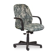 Marvel® Allegra® Fabric Mid-Back Management Chair W/Loop Arms & Knee Tilt, ACU Digital Camo