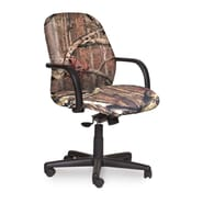 Marvel® Allegra® Fabric Mid-Back Management Chair W/Loop Arms & Knee Tilt, Mossy Oak®