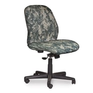 Marvel® Allegra® Fabric Mid-Back Armless Management Chair W/Swivel Tilt, ACU Digital Camo