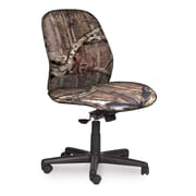 Marvel® Allegra® Fabric Mid-Back Armless Management Chair W/Swivel Tilt, Mossy Oak®