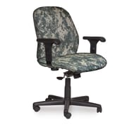 Marvel® Allegra® Fabric Mid-Back Management Chair W/Adjustable Arms & Swivel Tilt, ACU Digital Camo
