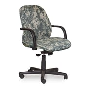 Marvel® Allegra® Fabric Mid-Back Management Chair W/Loop Arms & Swivel Tilt, ACU Digital Camo