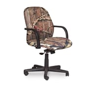 Marvel® Allegra® Fabric Mid-Back Management Chair W/Loop Arms & Swivel Tilt, Mossy Oak®