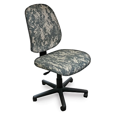 Marvel® Allegra® Padded Fabric Mid-Back Armless Operational Chair, ACU Digital Camo