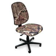 Marvel® Allegra® Padded Fabric Mid-Back Armless Operational Chair, Mossy Oak®
