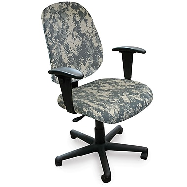Marvel® Allegra® Padded Fabric Mid-Back Operational Chairs W/Adjustable Arms