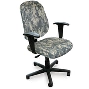 Marvel® Allegra® Padded Fabric Mid-Back Operational Chair W/Adjustable Arms, ACU Digital Camo