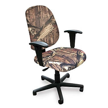 Marvel® Allegra® Padded Fabric Mid-Back Operational Chair W/Adjustable Arms, Mossy Oak®