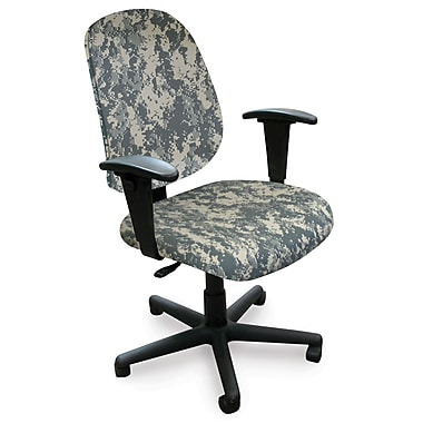 Marvel® Allegra® Padded Fabric Mid-Back Operational Chairs W/Dual Adjustable Arms