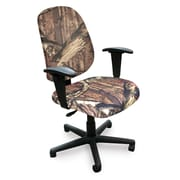 Marvel® Allegra® Padded Fabric Mid-Back Operational Chair W/Dual Adjustable Arms, Mossy Oak®