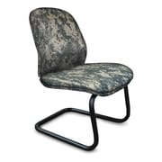 Marvel® Allegra® Fabric Padded Mid-Back Armless Sled Base Chair, ACU Digital Camo